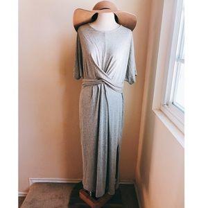 Lush Twist Front Maxi Jersey Dress